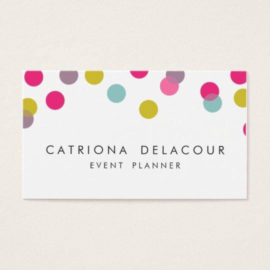 Colourful Confetti Dots Modern Business Card