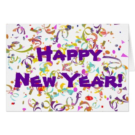 Colourful Confetti New Year Card