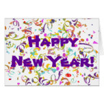 Colourful Confetti New Year Greeting Card