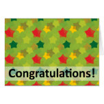 Colourful Congratulations Stars Cards