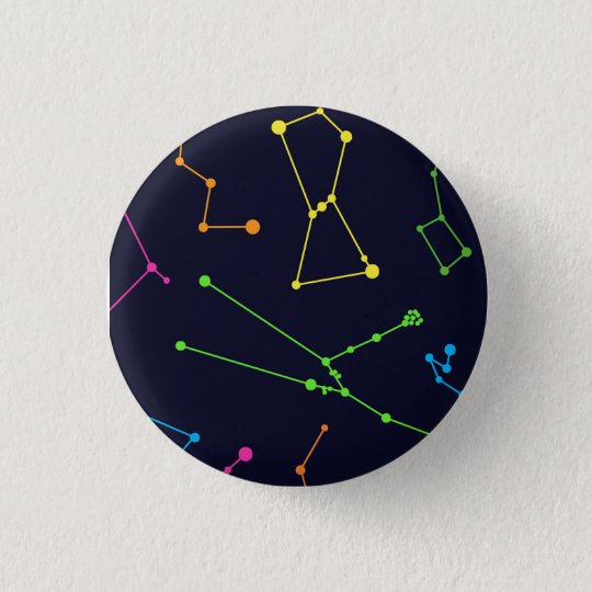 Colourful Constellations 3 Cm Round Badge