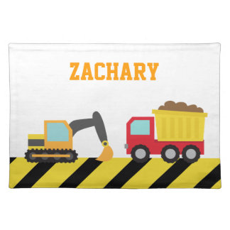 Colourful Construction Vehicle, For kids Placemat
