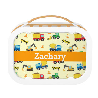 Colourful Construction Vehicles Pattern for Boys Lunchboxes