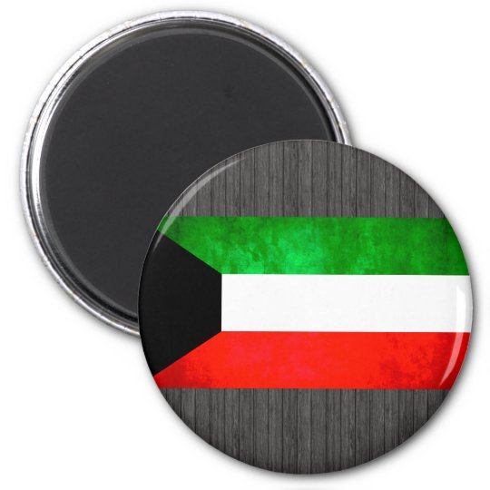 Colourful Contrast Kuwaiti Flag Magnet