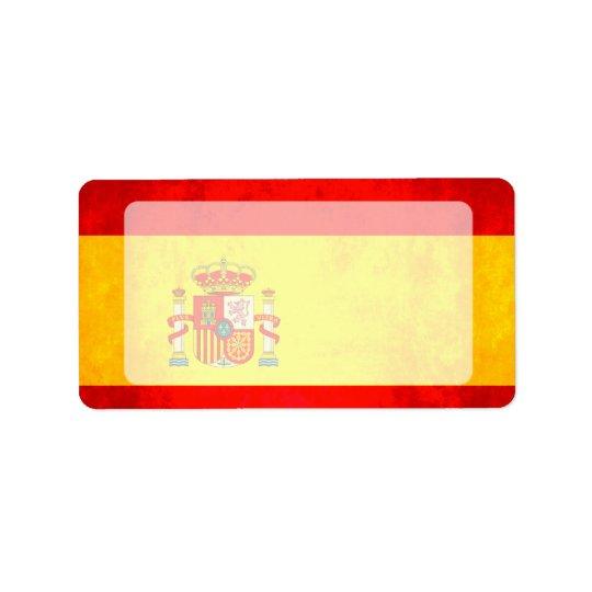 Colourful Contrast SpanishFlag Address Label