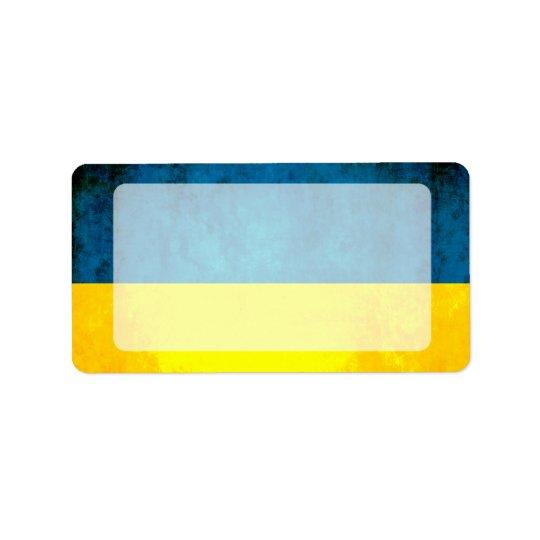 Colourful Contrast UkrainianFlag Label