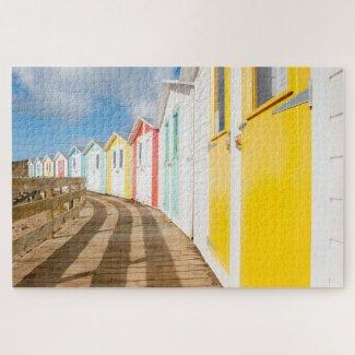 Colourful Cornish Beach Huts Jigsaw