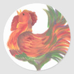 Colourful Country Crowing Rooster