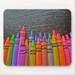 Colourful Crayons bright idea mousepad