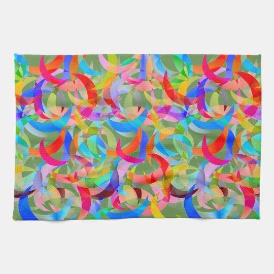 Colourful Crescent Design on Kitchen Towel