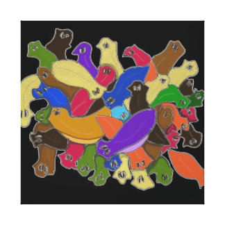 Colourful Cross Eyed Planarian Worms Canvas Print