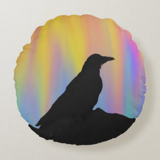 Colourful Crow Pillow/ Cushion