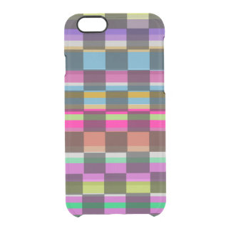 Colourful Cubes Clear iPhone 6/6S Case