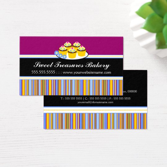 Colourful Cupcakes Bakery Business Card