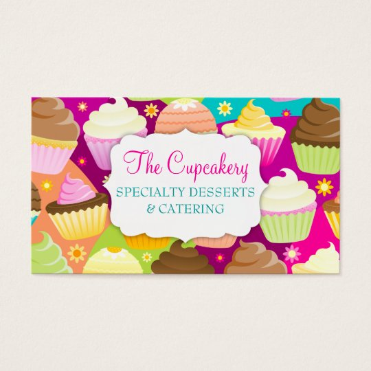 Colourful Cupcakes Business Card