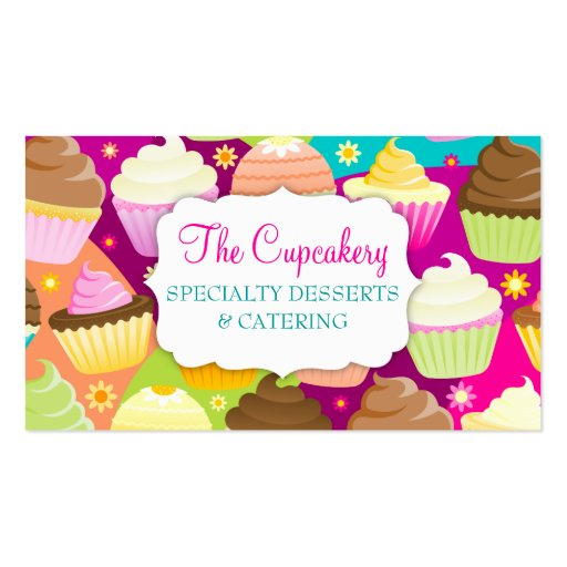 Premium Bakery Business Card Templates Page - Cupcake business card template