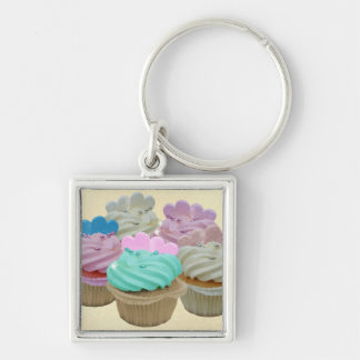 Colourful Cupcakes Key Ring
