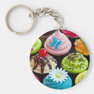 Colourful Cupcakes Keychain