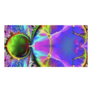 colourful custom photo card