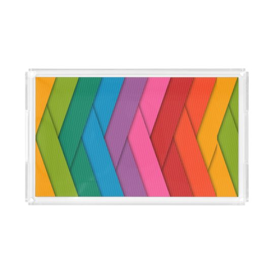 Colourful Custom Small Rectangle Tray