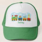 Colourful Cute Animal Train Transport Trucker Hat