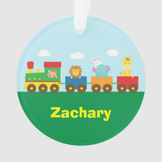 Colourful Cute Animals Train for Kids Ornament