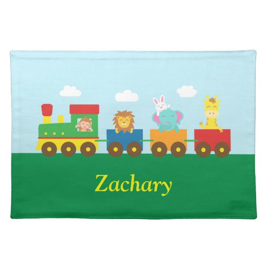 Colourful Cute Animals Train for Kids Place Mats