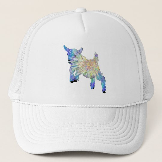 Colourful Cute Baby Goat Jumping Funny Animal Art