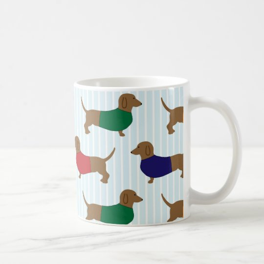Colourful Cute Dachshunds Dogs Classic Coffee Mug