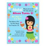 Colourful Cute Hawaii Hula Girl Luau Party 11 Cm X 14 Cm Invitation Card