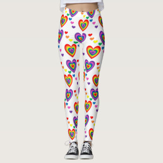 Colourful cute heart Leggings