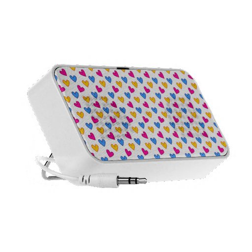 Colourful cute hearts portable speaker