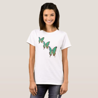 Colourful Cute Jade Green Butterfly Tshirt