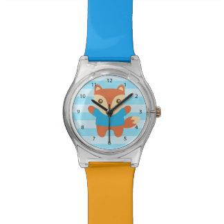 Colourful, Cute little fox, For Kids Wristwatch