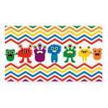 Colourful Cute Monsters Fun Chevron Striped