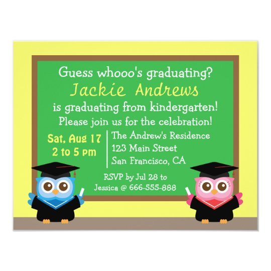 Colourful, Cute Owl Graduation, for Kids Card