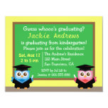 Colourful, Cute Owl Graduation, for Kids Personalised Announcement