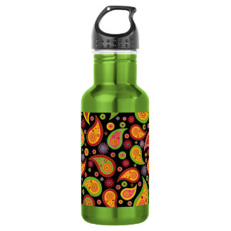 colourful cute paisley pattern fun background 532 ml water bottle
