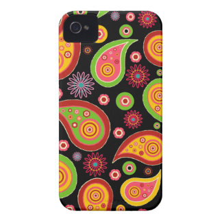 colourful cute paisley pattern fun background iPhone 4 covers