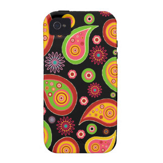 colourful cute paisley pattern fun background iPhone 4/4S case