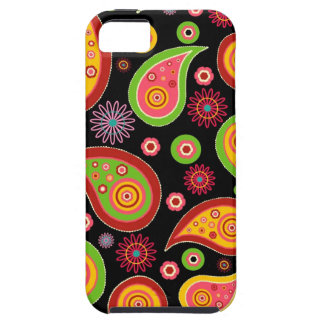 colourful cute paisley pattern fun background iPhone 5 case