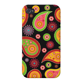 colourful cute paisley pattern fun background iPhone 4 cover