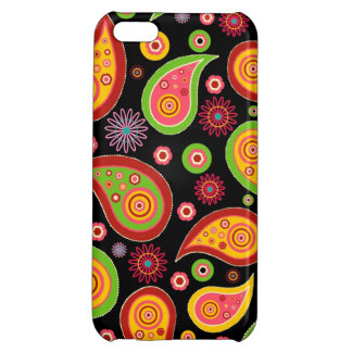 colourful cute paisley pattern fun background iPhone 5C cases
