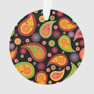 colourful cute paisley pattern fun background ornament