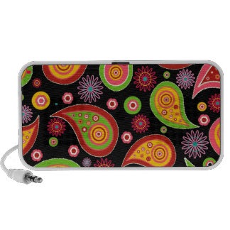 colourful cute paisley pattern fun background iPod speakers