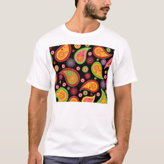 colourful cute paisley pattern fun background T-Shirt