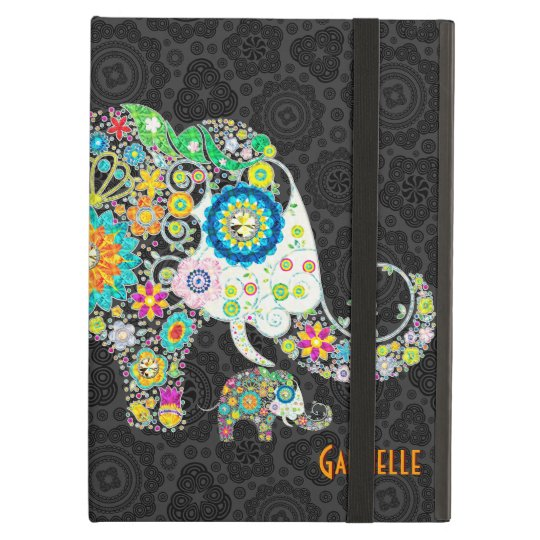 Colourful Cute Retro Floral Elephant Illustration Case For