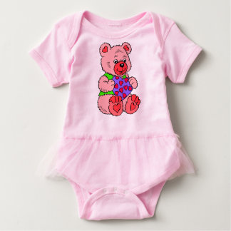 Colourful cute Teddy Bear Baby Bodysuit
