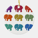 Colourful cute trendy girly elephants