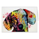 colourful Dachshund art Greeting Card